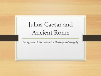 Julius Caesar Background & Introduction PowerPoint with Handout