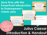 Julius Caesar Introduction PowerPoint with Handout