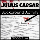 Julius Caesar Background and Introduction in PDF, GOOGLE, & Easel