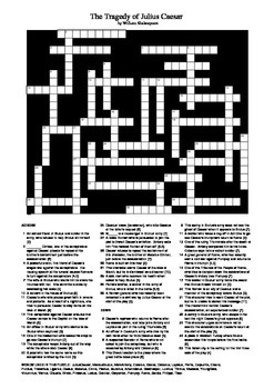 Julius Caesar - Big Crossword Puzzle