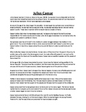 Julius Caesar Biography and Assignment