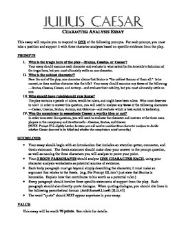 How To Write Essay Papers Julius Caesar Character Analysis Essay Apa Format Sample Essay Paper also First Day Of High School Essay Julius Caesar Character Analysis Essay By The Dayold Jelly Factory English Essays
