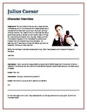 Julius Caesar - Character Interview writing assignment