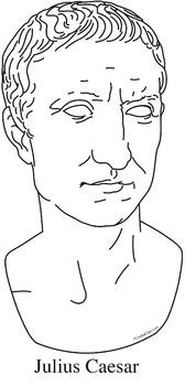 Julius Caesar Clip Art, Coloring Page, or Mini-Poster