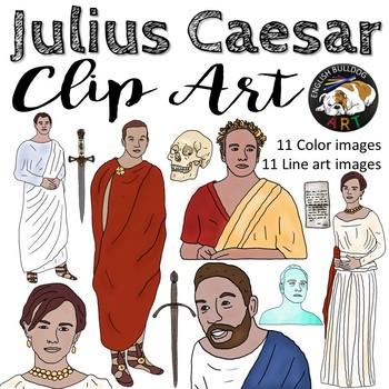 Julius Caesar Clip Art Set