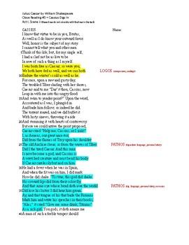 Julius Caesar Close Readings, Acts I-V
