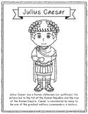 Julius Caesar Coloring Page Craft or Poster with Mini Biog