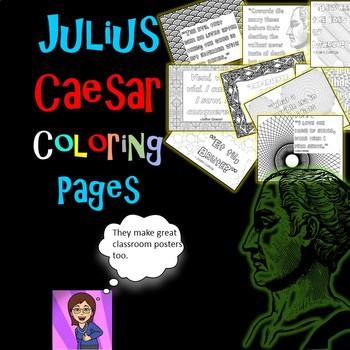 Julius Caesar Coloring Pages: Mini Posters