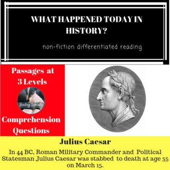 Julius Caesar Differentiated Reading Passage March 15