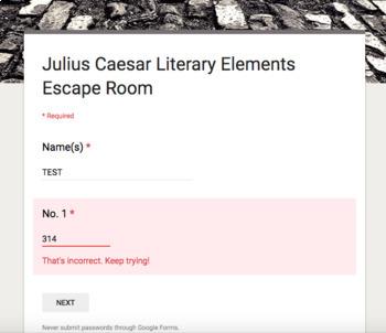 Julius Caesar Review Escape Room