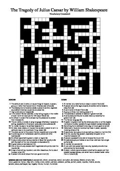 Julius Caesar - Essential Vocabulary Crossword