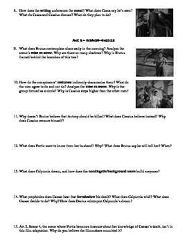 Julius Caesar Film (1953) Study Guide Movie Packet