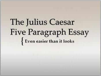 Julius Caesar Five Paragraph Essay pack