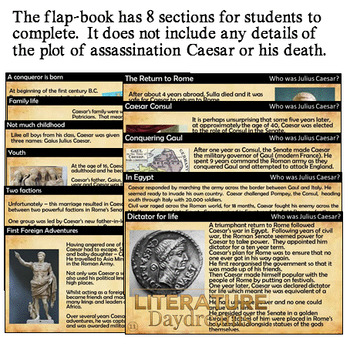 Julius Caesar The Rise to Power - Foldable activity