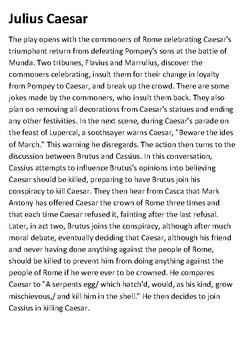 Julius Caesar Handout