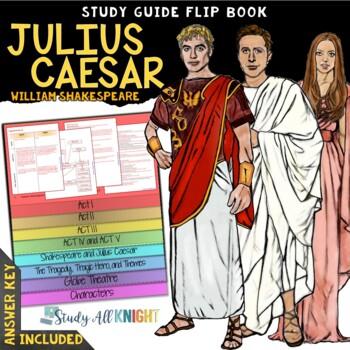 JULIUS CAESAR READING LITERATURE GUIDE FLIP BOOK