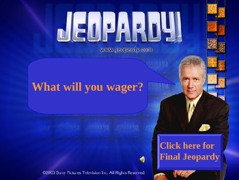 Julius Caesar Jeopardy Review Game