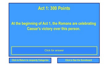Julius Caesar Jeopardy Review Game for Smart Notebook