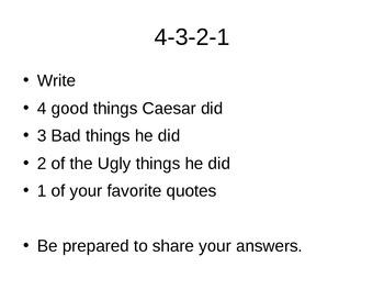 Julius Caesar Lesson Plans and Printables