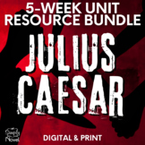 Julius Caesar Literature Guide, Complete Unit - No Prep Handouts, Tests & More