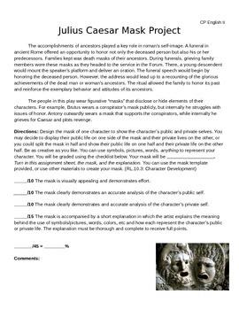 Julius Caesar Mask Assignment