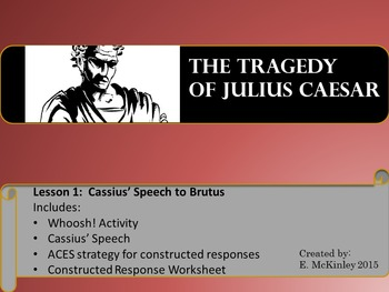 Julius Caesar Mini-lesson Cassius' Speech to Brutus
