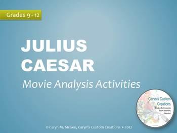 Julius Caesar Movie and Play Analysis Activities