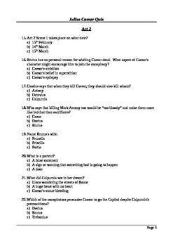 Julius Caesar - Multiple Choice Quiz