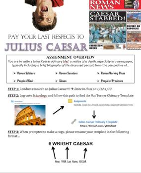 Julius Caesar Obituary