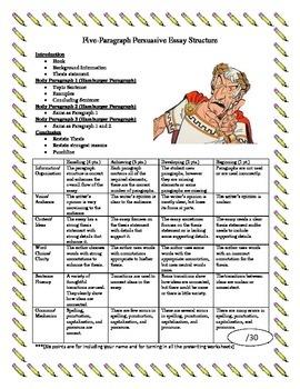 Julius Caesar Persuasive Essay Pack