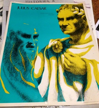Julius Caesar Play by William Shakespeare 4 Quotes Posters lot-Globe Theater