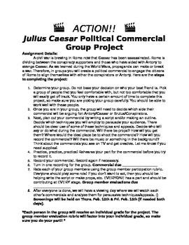 Julius Caesar Political Commerical Project