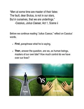 Julius Caesar Pre-Reading Quick Write