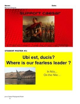 Julius Caesar Propaganda Poster Project