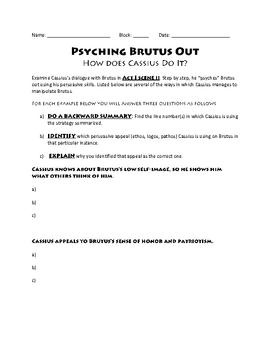 Julius Caesar: Psyching Brutus Out