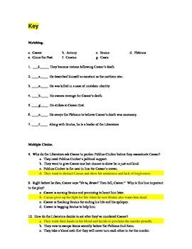 Julius Caesar Quiz:  Act 3