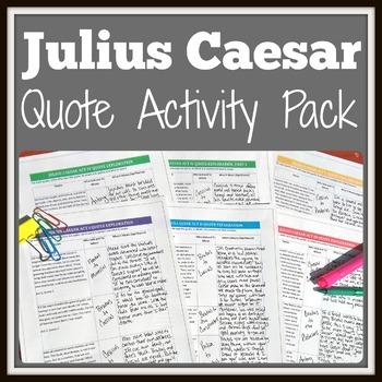 Julius Caesar Quote Activity Pack for Examining Shakespeare's Language