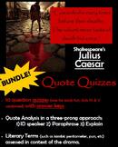 Julius Caesar - Quote Quizzes by Act