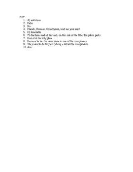 Julius Caesar Reading Check Quiz Act 3 Scenes 2 and 3