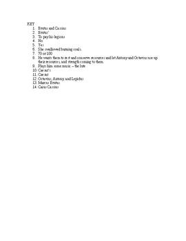 Julius Caesar Reading Check Quiz Act 4 Scenes 2 and 3