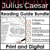 Julius Caesar Reading Guide Bundle used to Increase Comprehension & Analysis