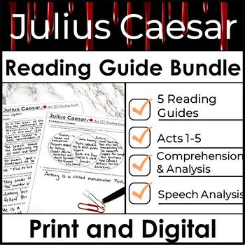 Julius Caesar Reading Guide Bundle used to Increase Compre