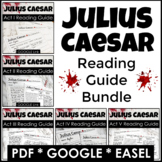 Julius Caesar Reading Guide Questions for Each Act in PDF, GOOGLE, & Easel