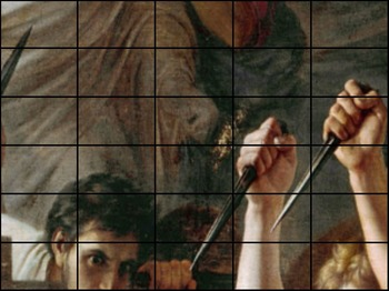 """Julius Caesar - Recreating """"The Death of Julius Caesar"""" Painting - Et tu, Brute?"""