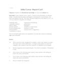 Julius Caesar Report Card Project