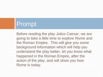 Julius Caesar Research Project