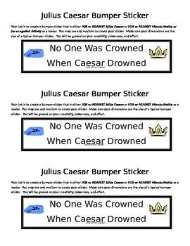 Julius Caesar Rhetoric Bumper Sticker