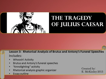 Julius Caesar: Rhetorical Analysis of Brutus and Antony's Funeral Speeches