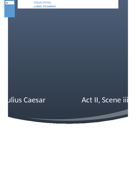 Julius Caesar STAAR Assessment/Quiz