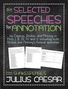 Julius Caesar: Selected speeches annotation bundle